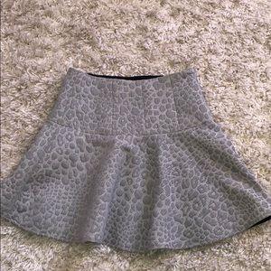Tibi Gray Cheetah skirt